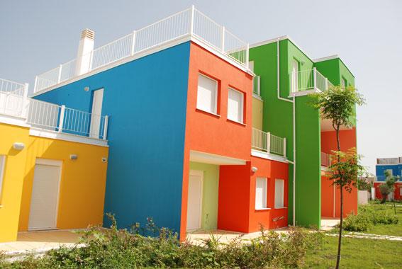 Fachadas de colores cool fachadas with pintura para for Colores de fachadas de moda