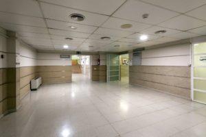 Hospital Arnau de Vilanova antes de la intervención artística