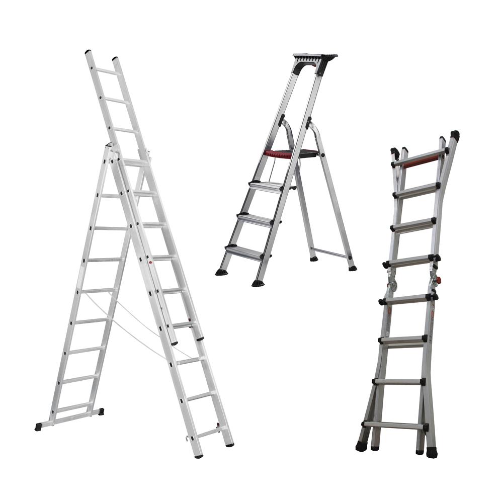 Escalera de aluminio isaval - Escalera tres peldanos ...