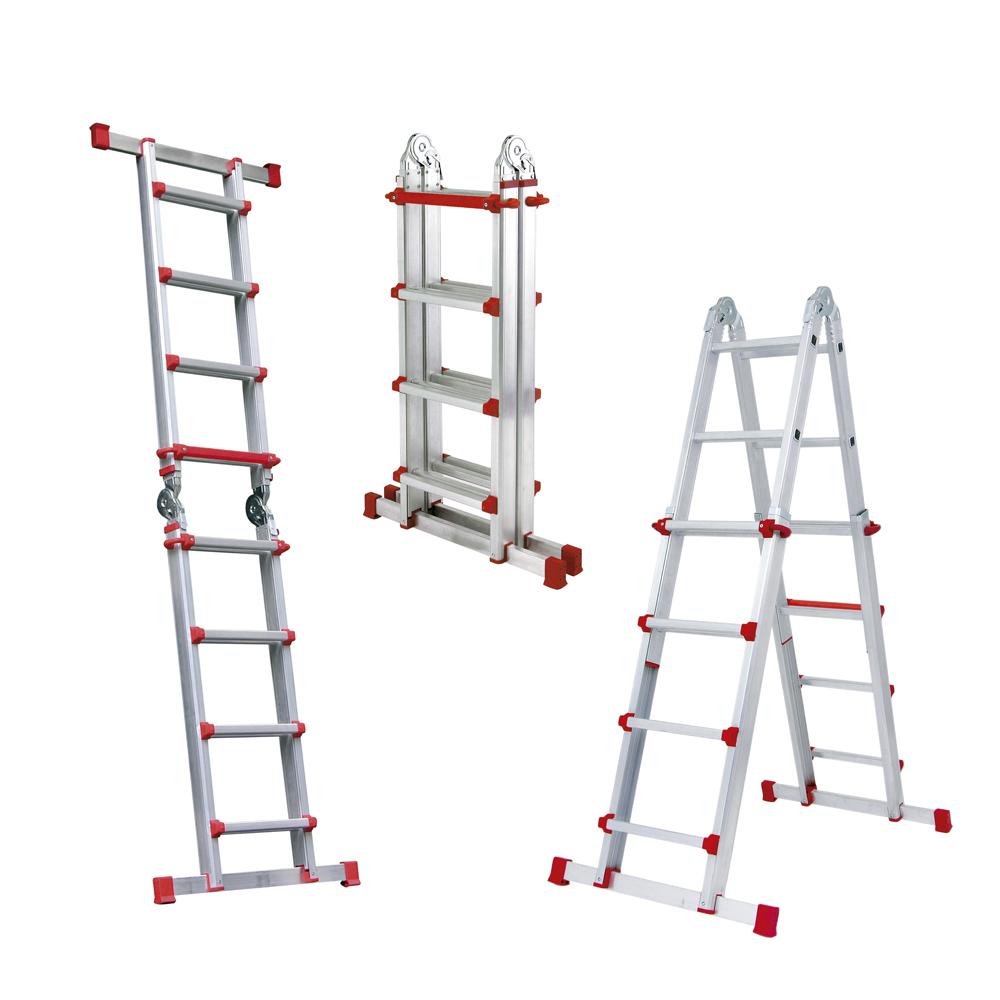 Escalera de aluminio isaval for Escaleras tres tramos