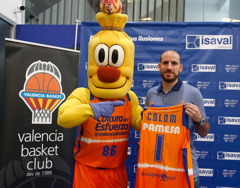 Quino Colom nuevo jugador de Valencia Basket Isaval Pinturas
