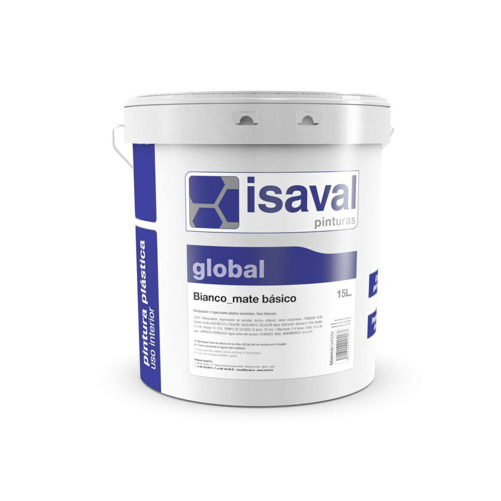 Bianco Mate Básico. Pintura profesional de Pinturas Isaval