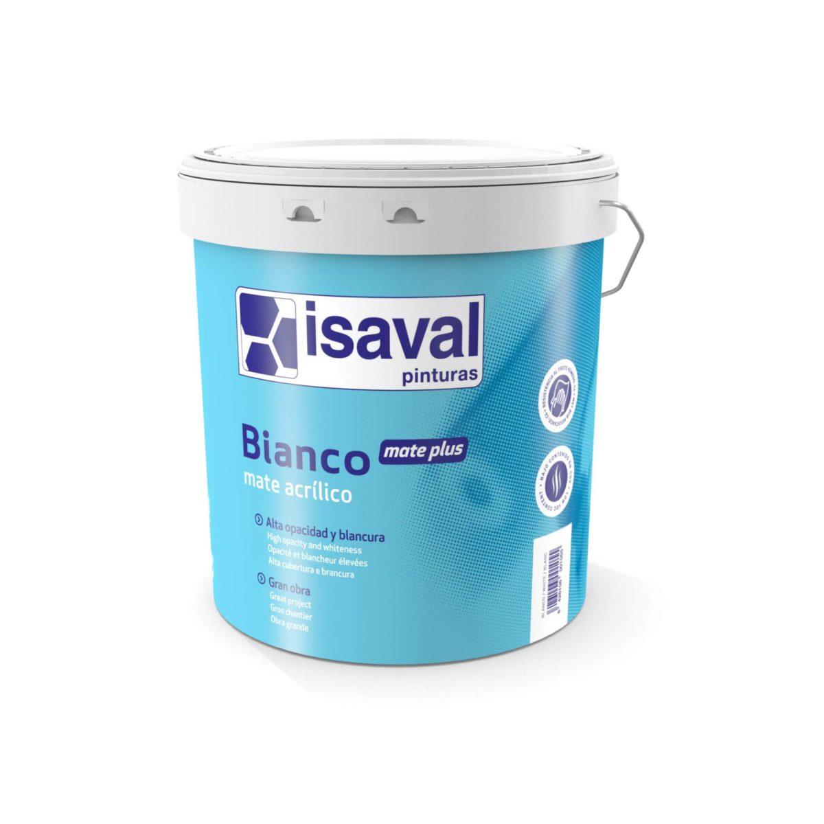 Bianco Mate Plus. Pintura acrílica profesional de Pinturas Isaval