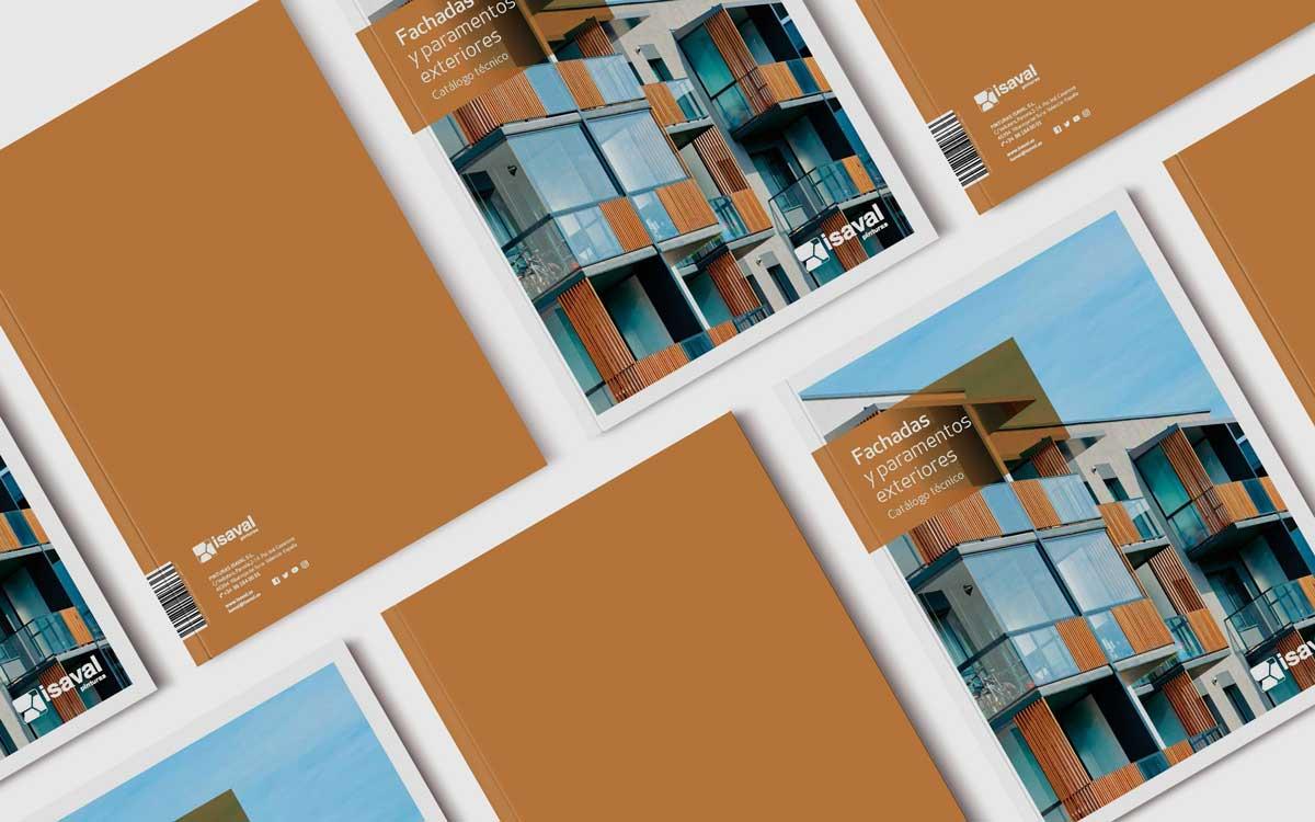 catálogo fachadas y paramentos exteriores pinturas isaval