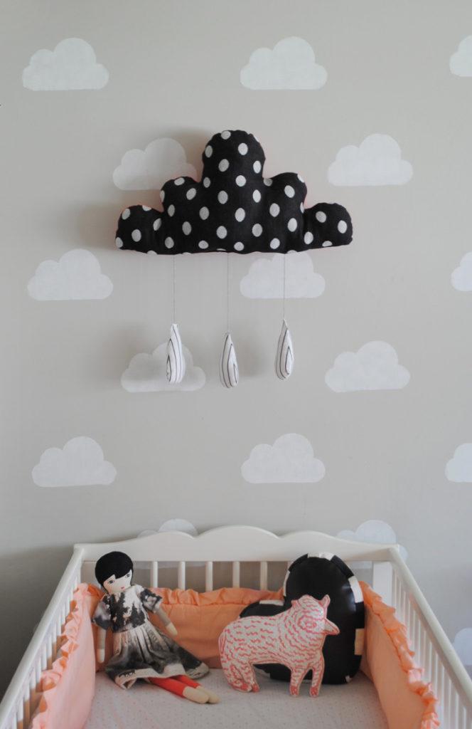 Diy Pintar La Habitación De Los Niños De Color Neutro Con Nubes
