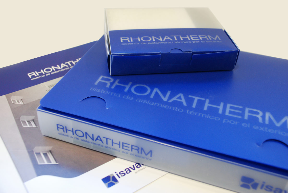 Rediseño del maletín y la caja de muestras RHONATHERM.