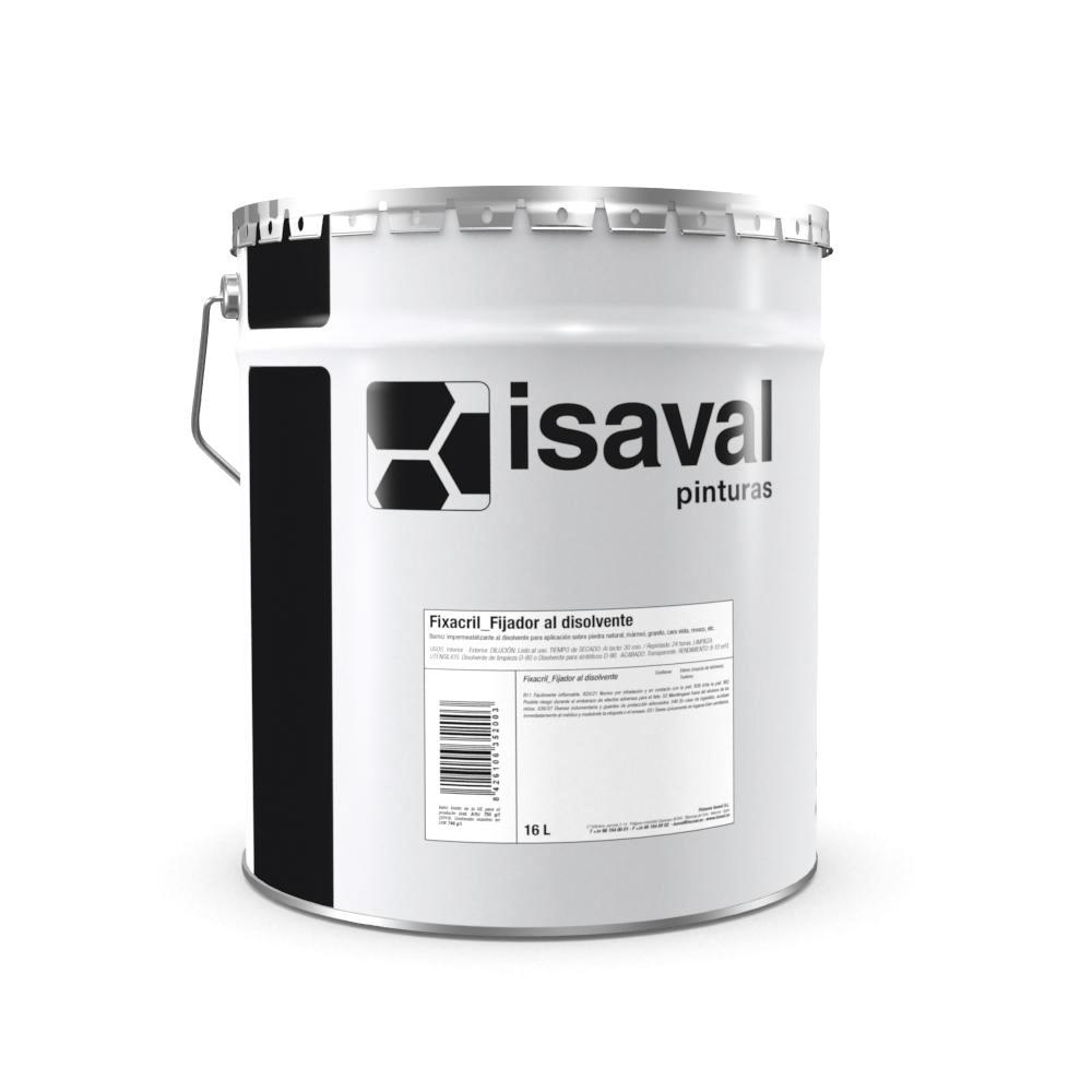 Fixacril Fijador acrílico al dte. Imprimación acrílica en solución. Pinturas Isaval