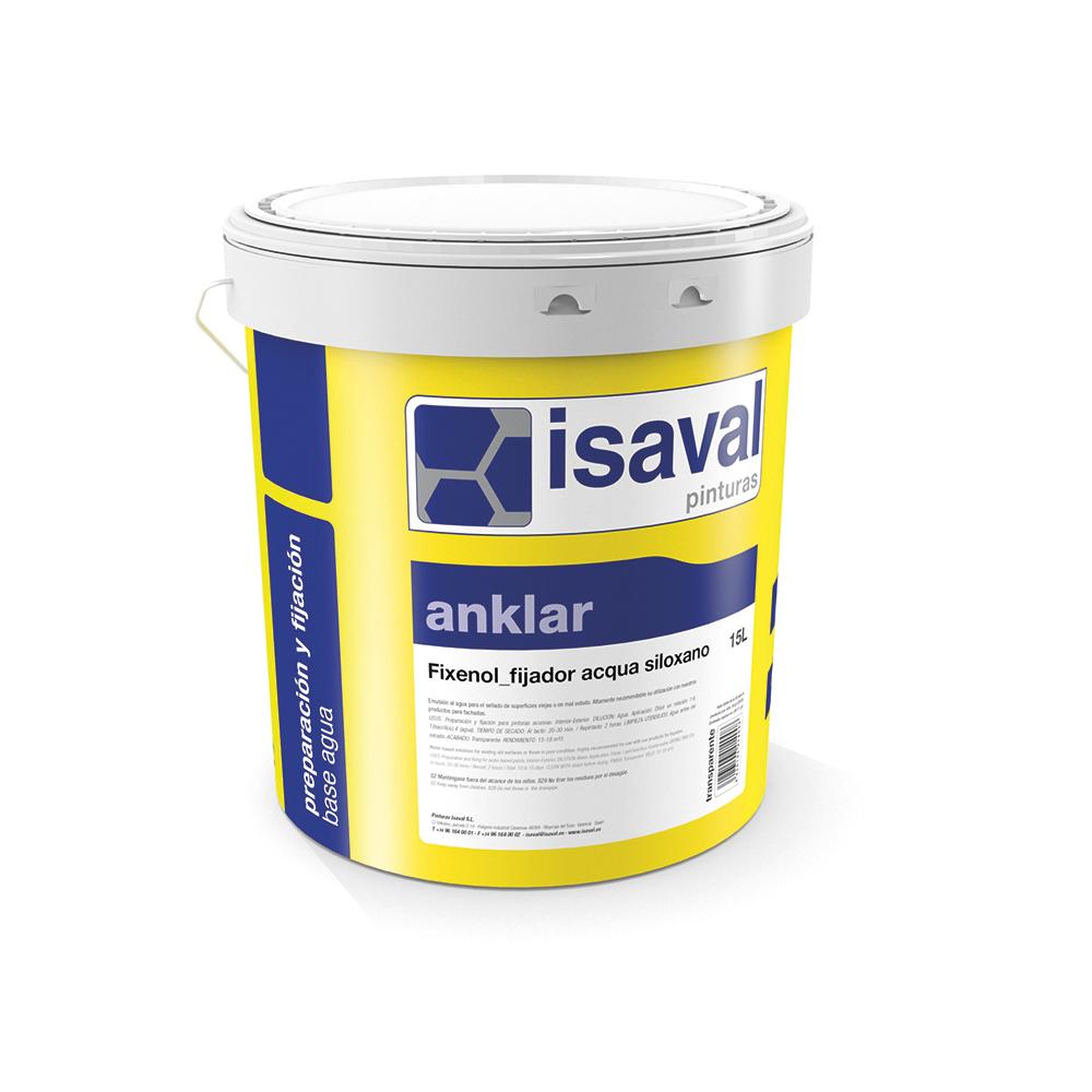 Imprimación acrílica opaca. prepración y fijación para pinturas al agua para el exterior y el interior. Pinturas Isaval