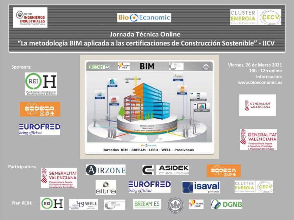"""Isaval partipa en la jornada técnica """"BIM clave en certificaciones de Construcción Sostenible y Saludable"""" – IICV"""
