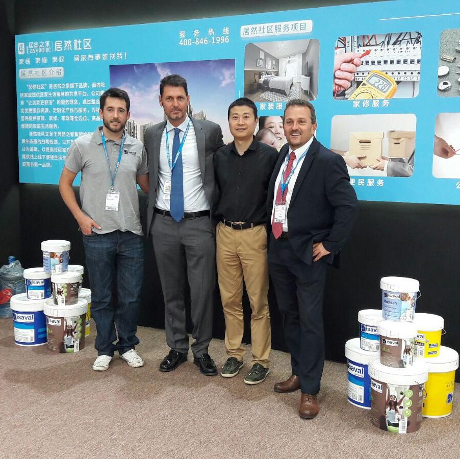Pinturas Isaval en Misión comercial en China