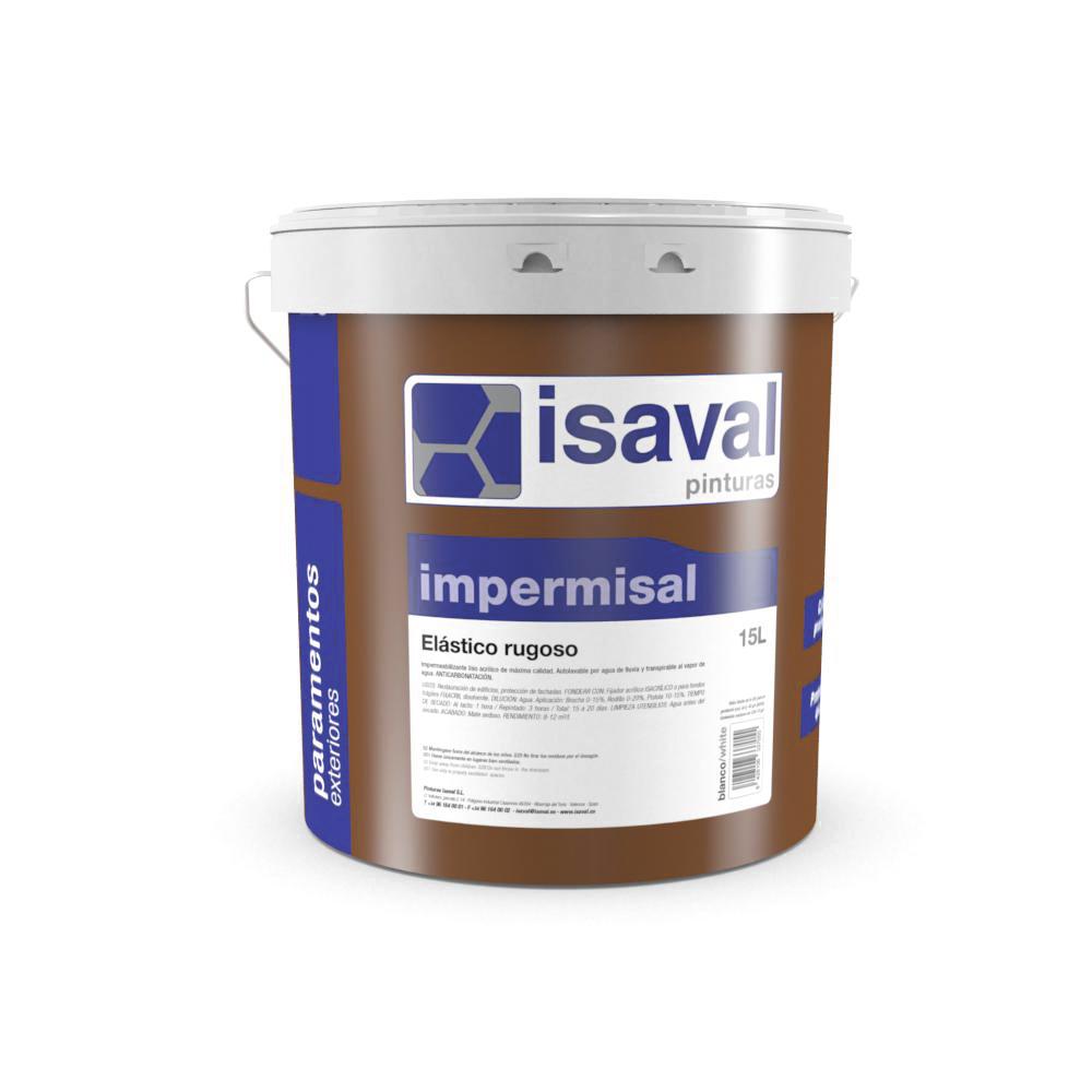 Impermisal elástico rugoso. Impermeable acrílico 100% Pinturas Isaval