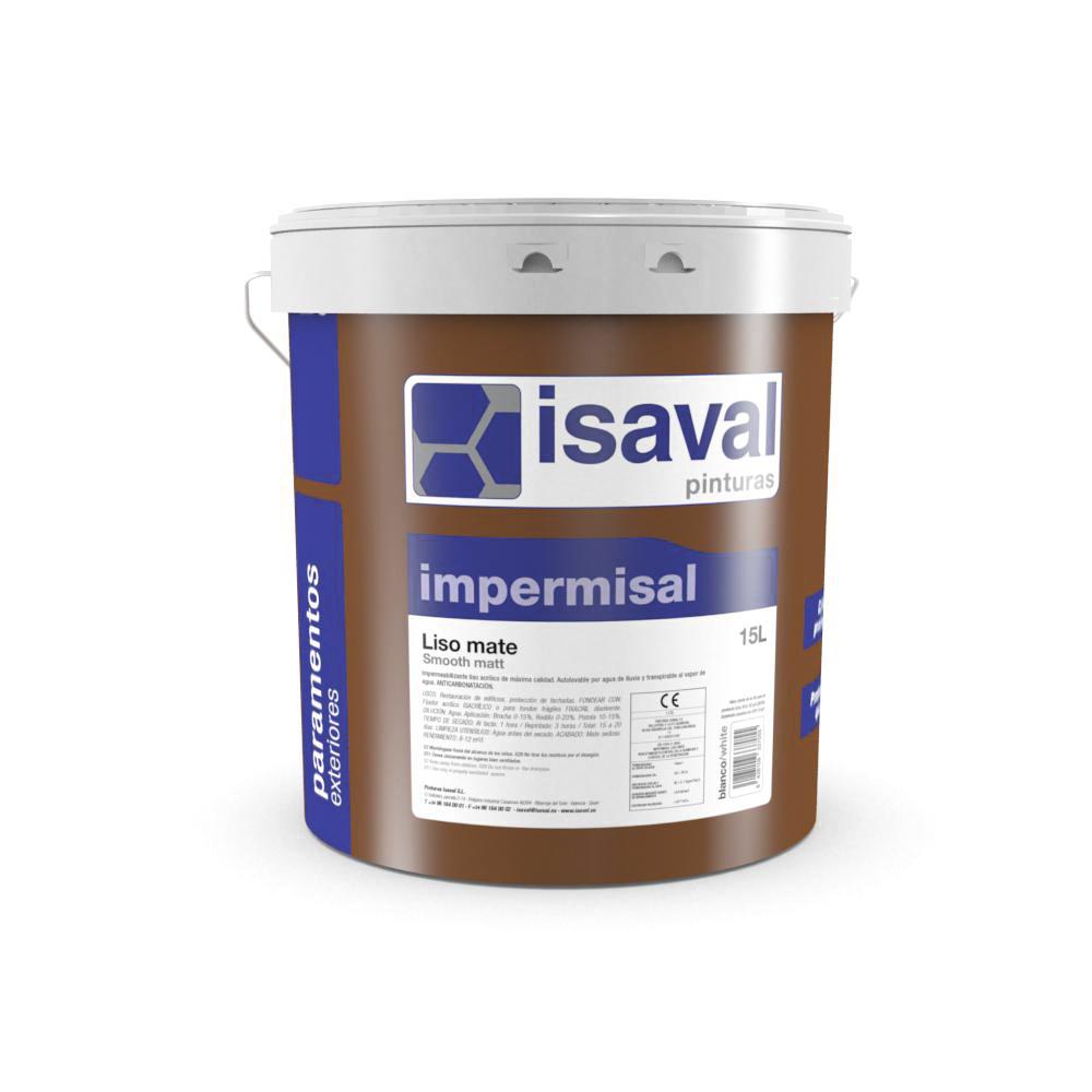 Impermisal liso mate. Impermeabilizante acrílico 100% Pinturas Isaval