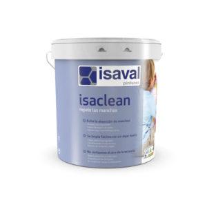 Isaclean Repele las manchas, Pintura acrílica resistente a las manchas. Pinturas Isaval