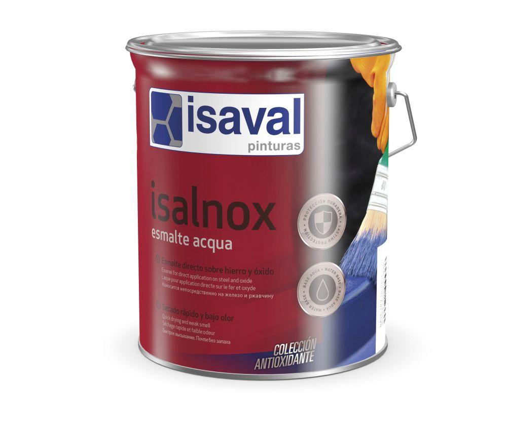 Isalnox Esmalte acqua. Esmalte antioxidante directo al metal de Pinturas Isaval