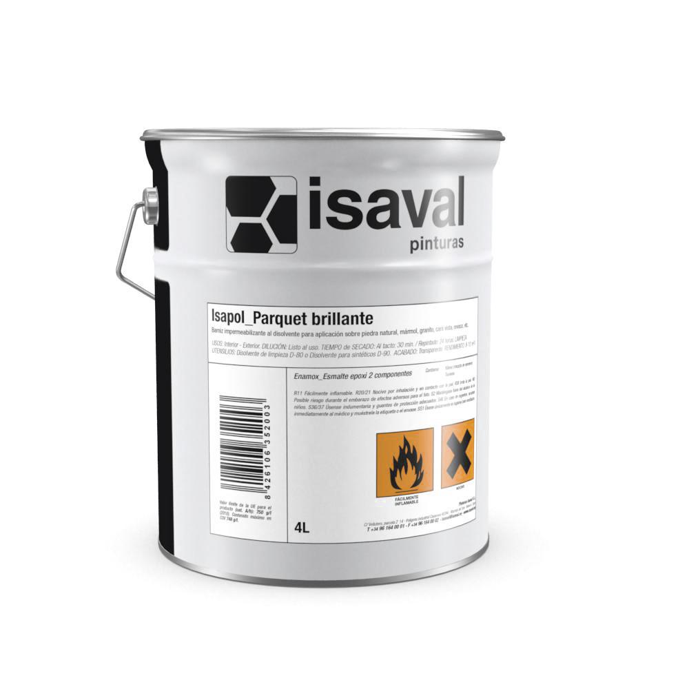 Isapol Parquet brillo. Barniz de poliuretano de Pinturas Isaval