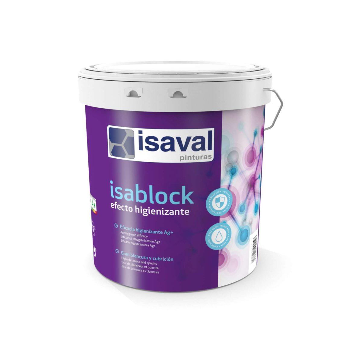 Isablock Efecto higienizante. Pintura acrílica con iones plata. Pinturas Isaval