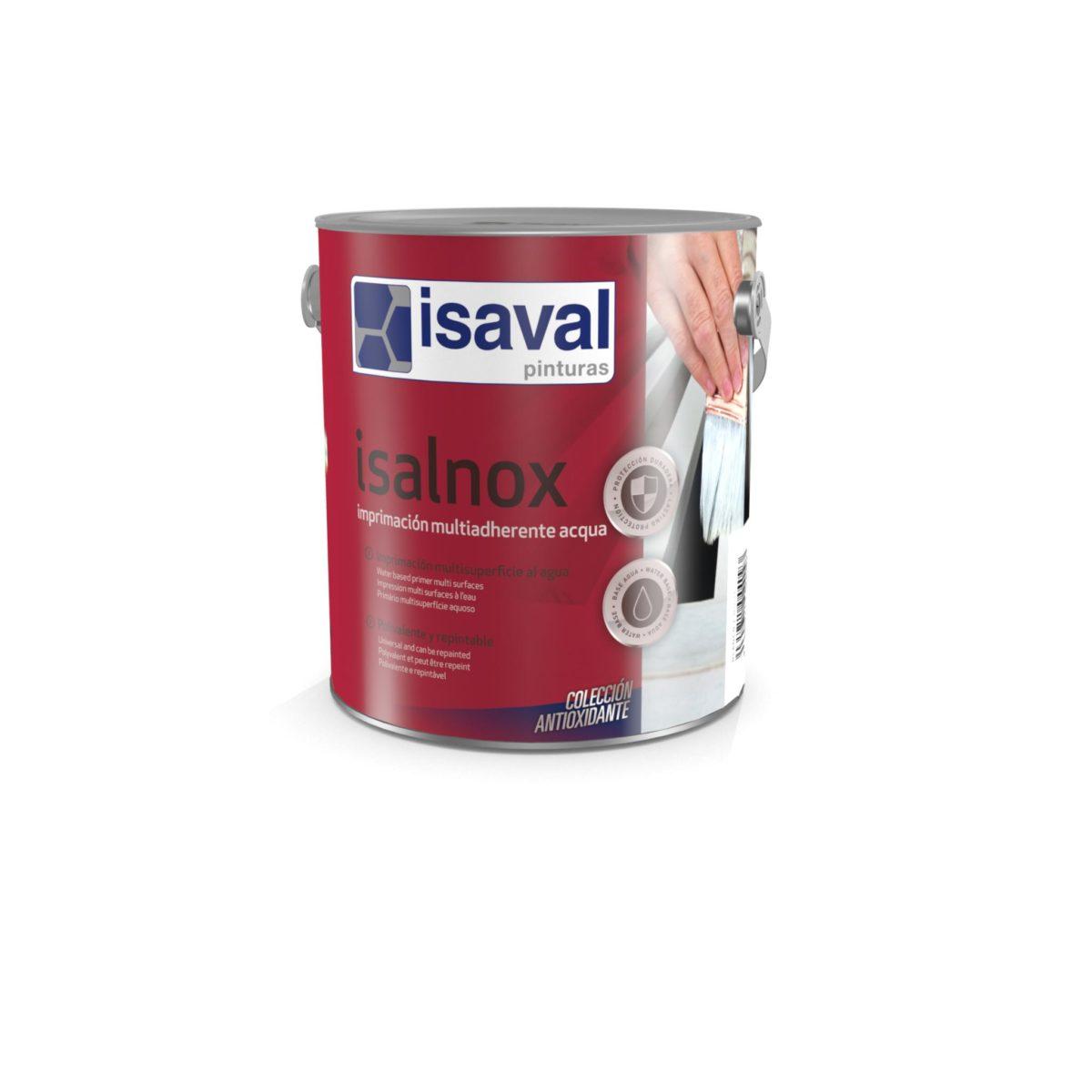 Isalnox Imprimación multiadherente acqua. Imprimación polivalente antioxidante de Pinturas Isaval