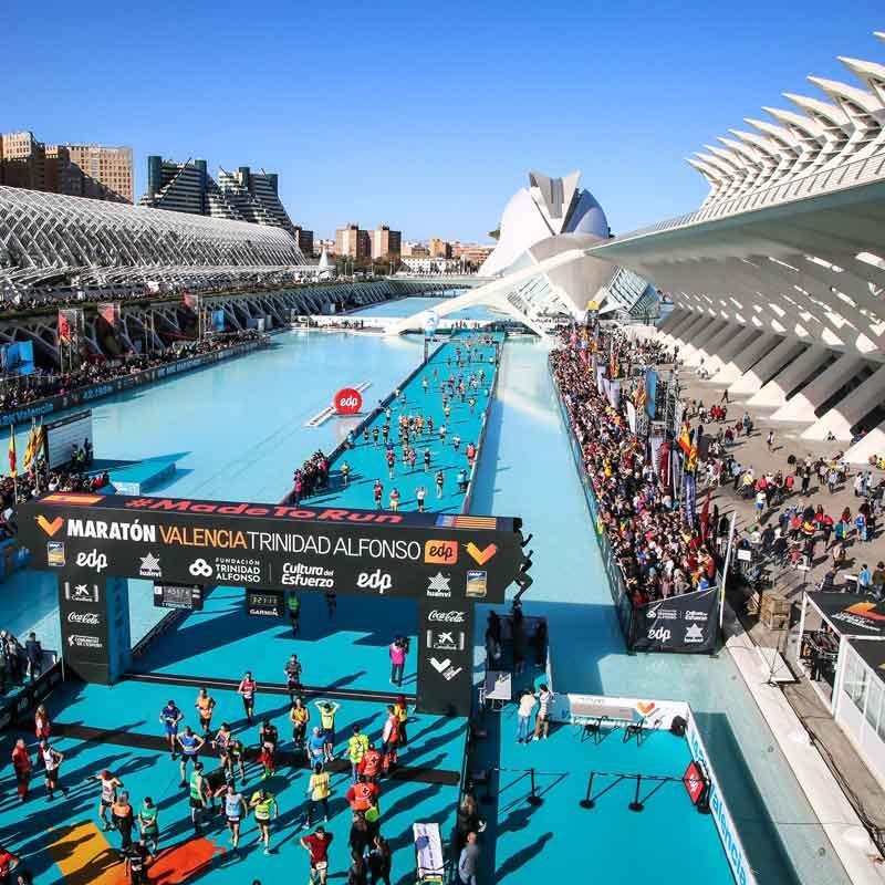 Oda al azul. Homenaje a los runners de Maratón y 10K Valencia.