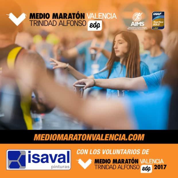 Pinturas Isaval, patrocinador de los voluntarios de Medio Maratón Valencia.