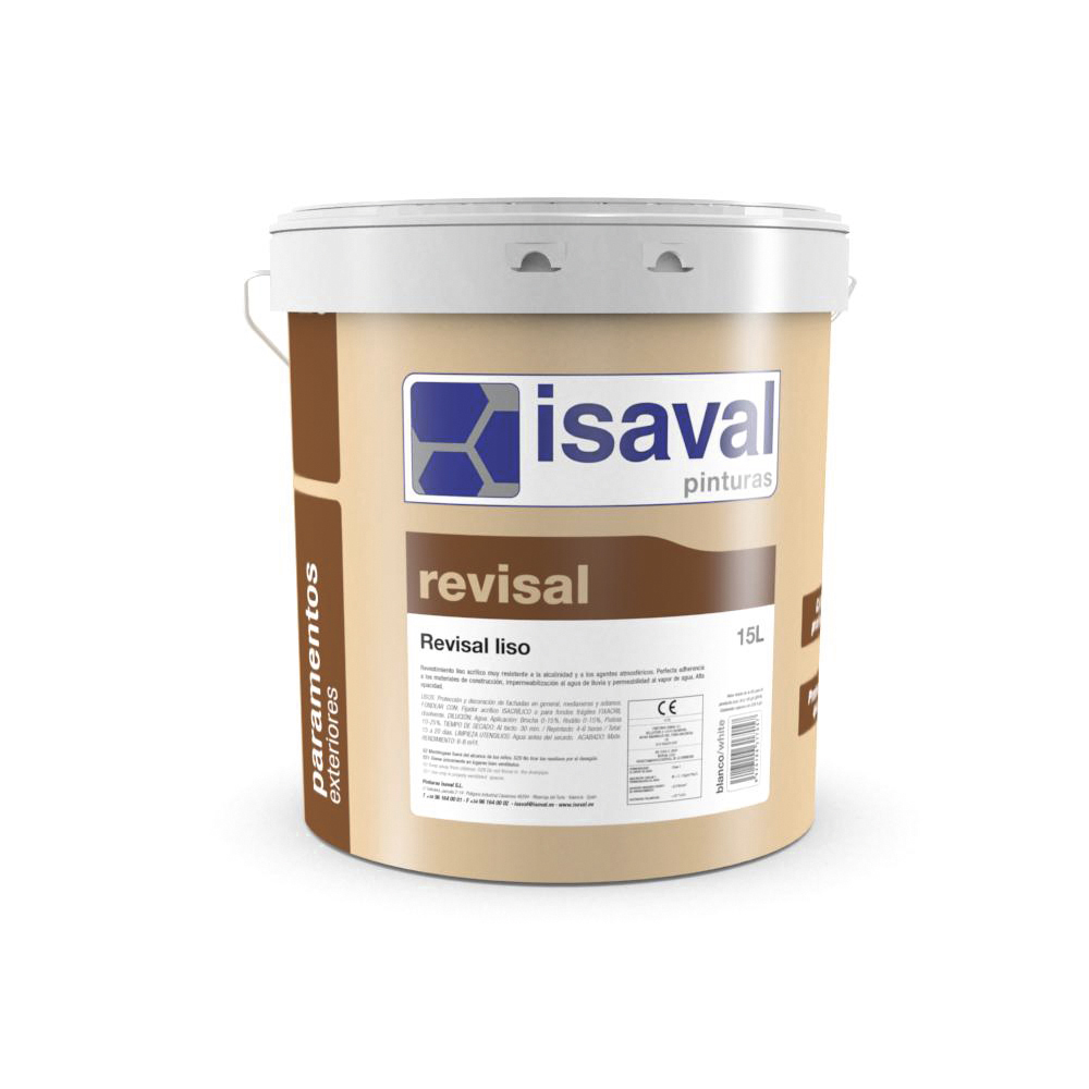 Revisal Liso. Revestimiento pétreo. Pinturas Isaval