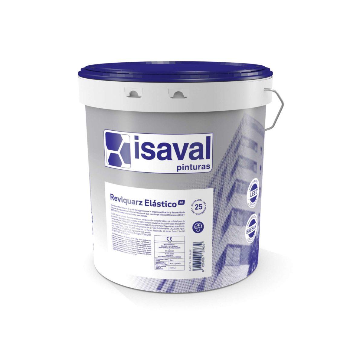 Reviquarz Elástico SE. Impermeabilizante acrílico semiespeso. Pinturas Isaval