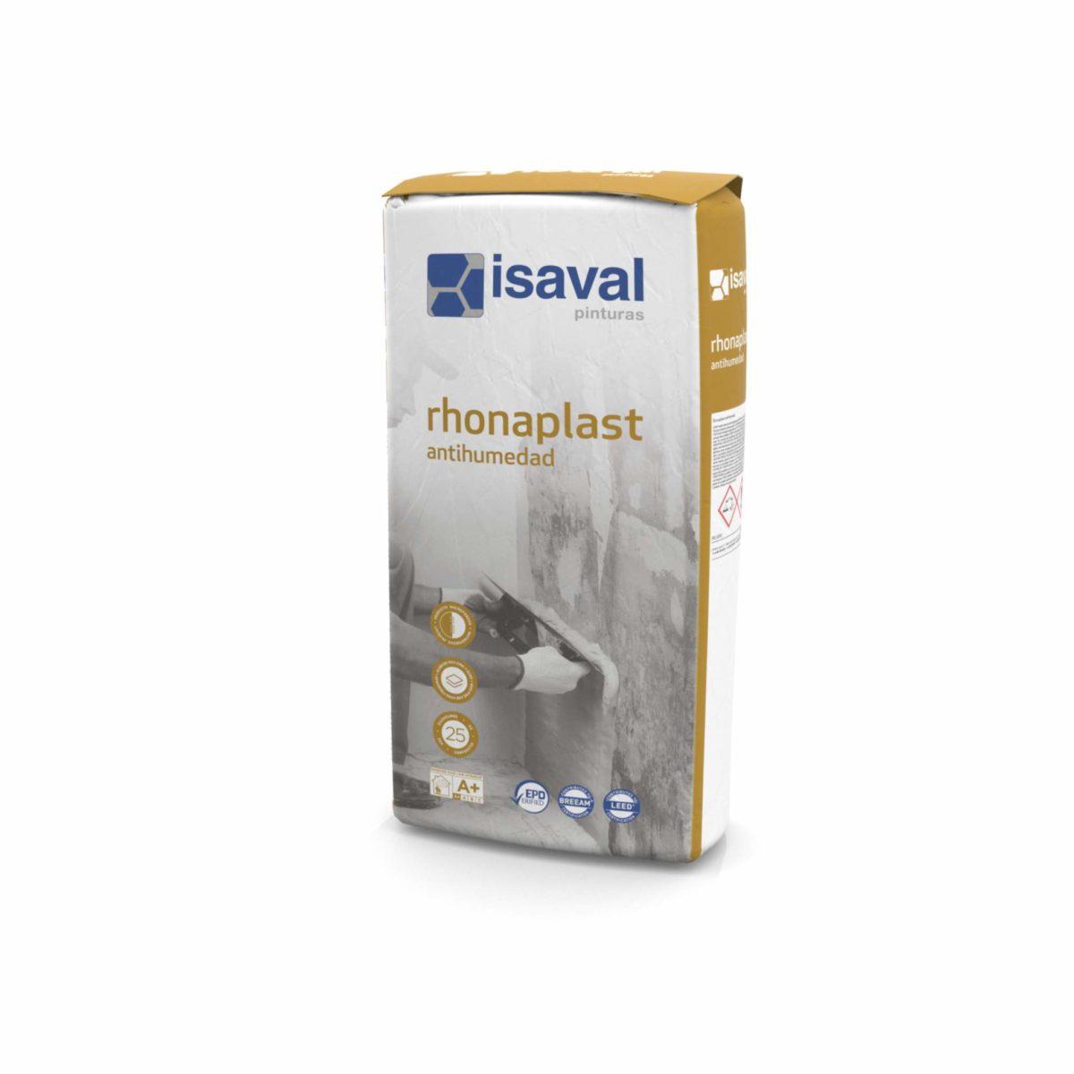 Rhonaplast Antihumedad. Enlucido para bloqueo humedad de Pinturas Isaval