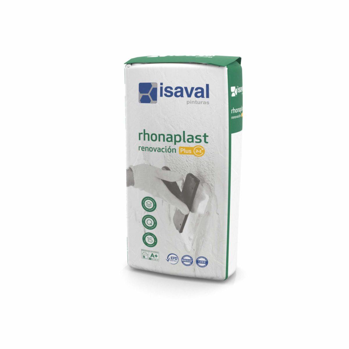Rhonaplast Renovación PLUS. enlucido regulación 2 en 1 de Pinturas Isaval