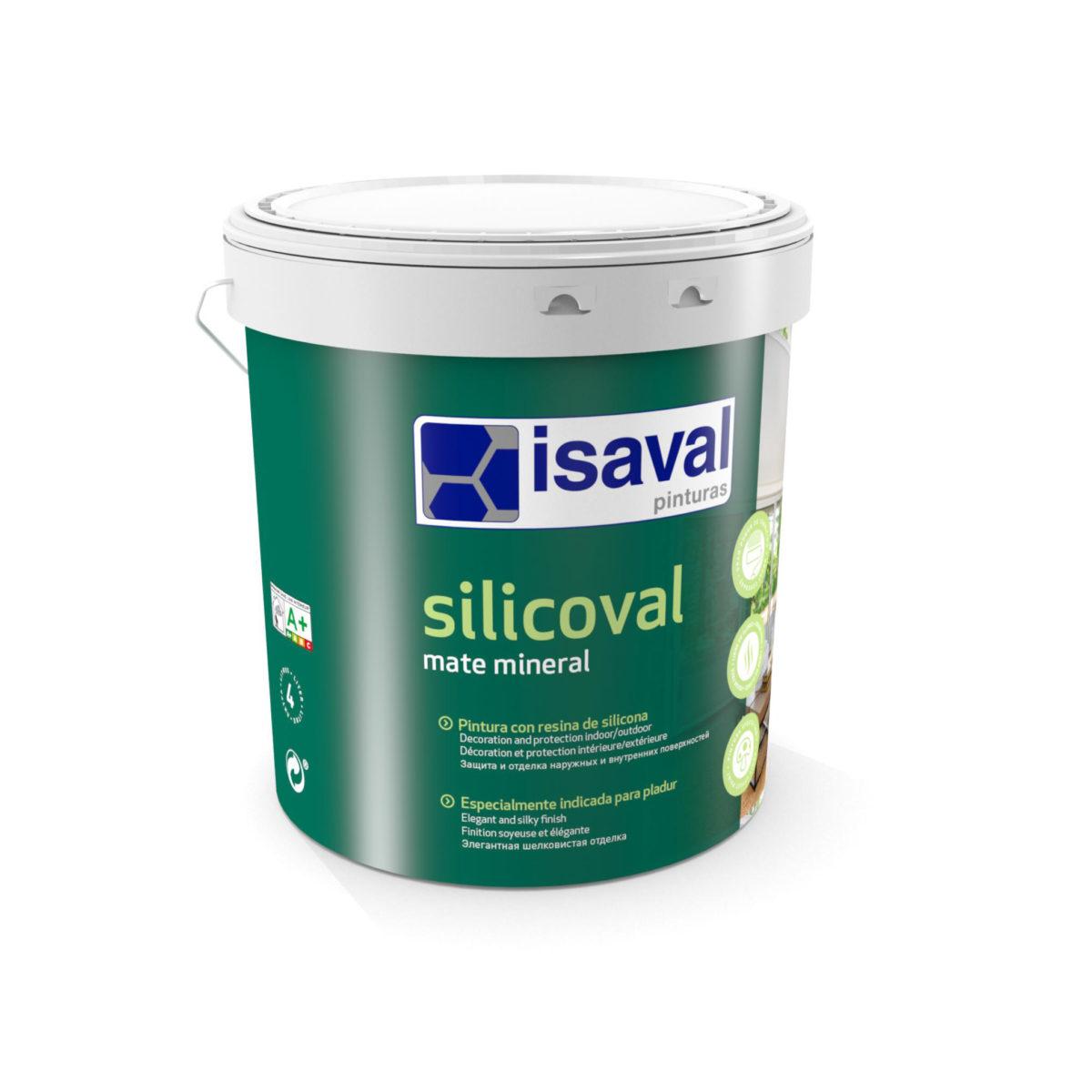 Silicoval Mate mineral. Pinturas con resina de silicona. Pinturas Isaval