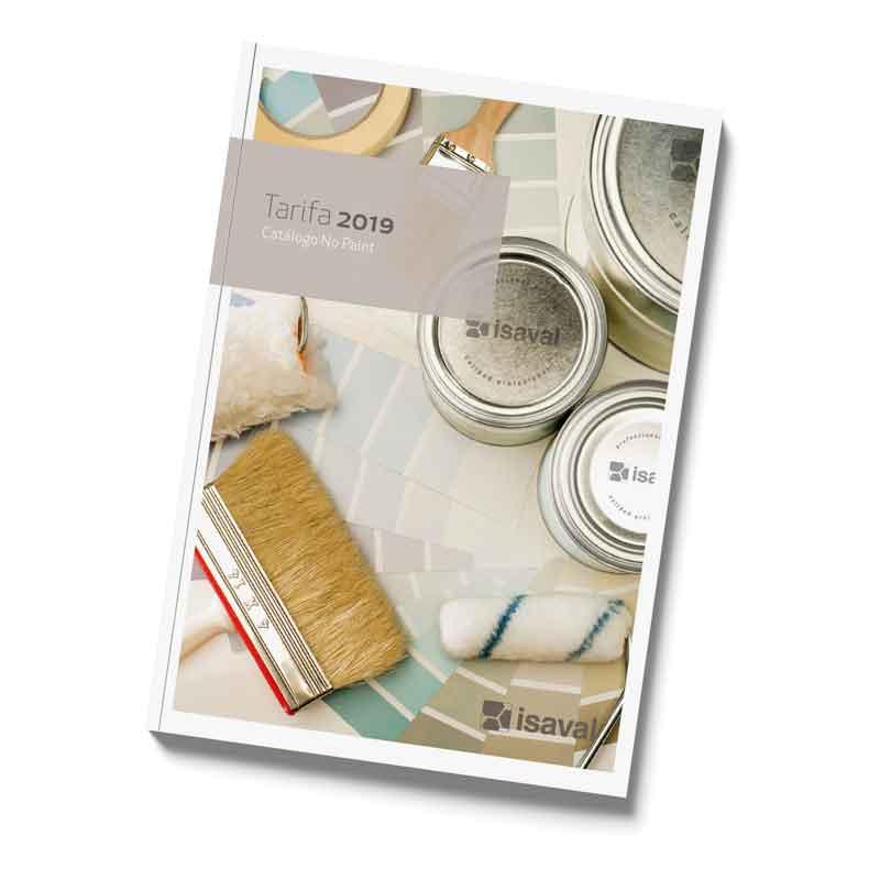 catálogo tarifa no paint nopaint pinturas isaval 2019