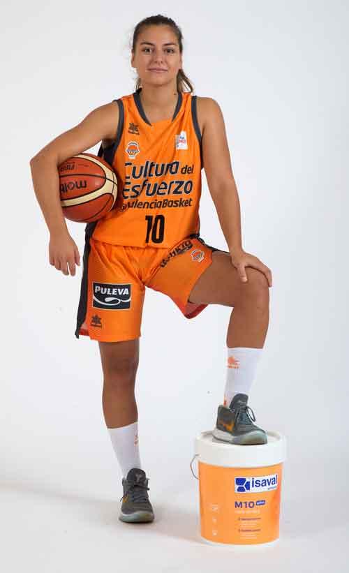 Esther Díaz - Valencia Basket Club Femenino - Patrocinado por Pinturas Isaval