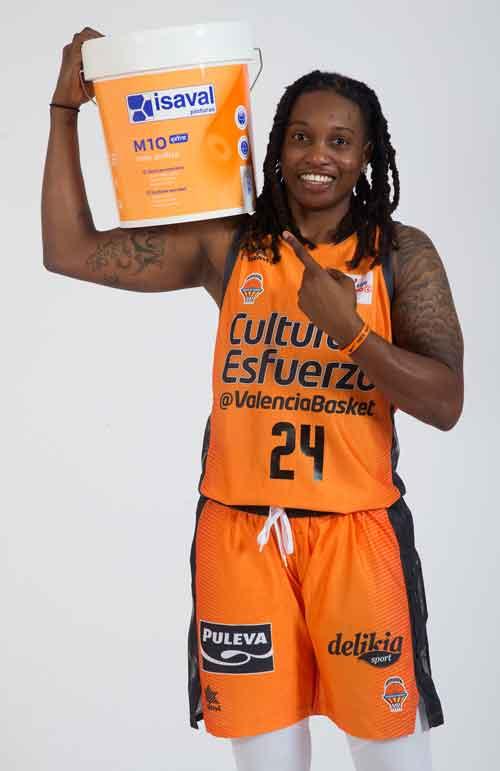 JOY BROWN - Valencia Basket Femenino - Patrocinado por Pinturas Isaval.