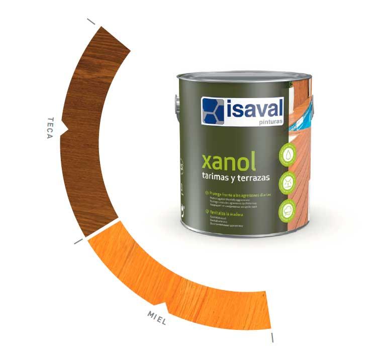 Carta colores Xanol Aceite de Teca proteger mueble