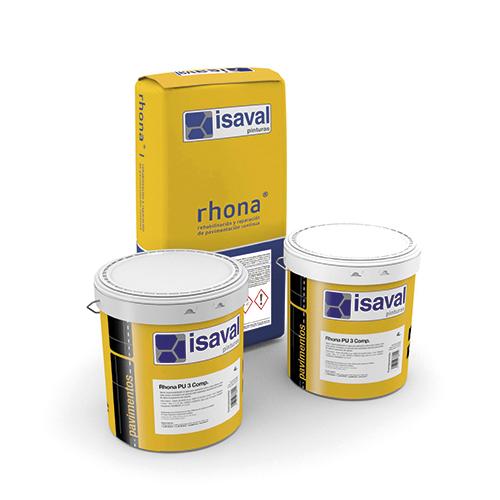 Rhona PU 3 Comp. Mortero híbrido cemento-poliuretano de Pinturas Isaval