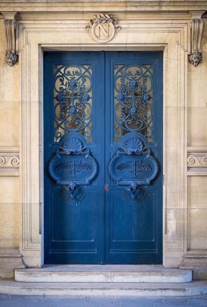 Azul tinta en la decoración