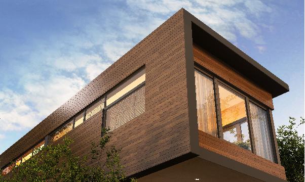 Exterior fachada recubrimiento madera protección