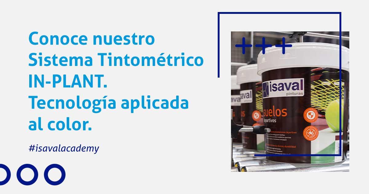 tintometría industrial in-plant isaval