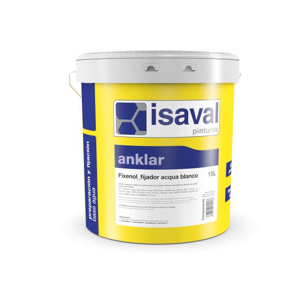 Fixenol Fijador acqua al siloxano. Imprimación acrílica siloxánica. Pinturas Isaval
