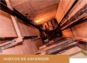 Humedades en huecos de ascensor
