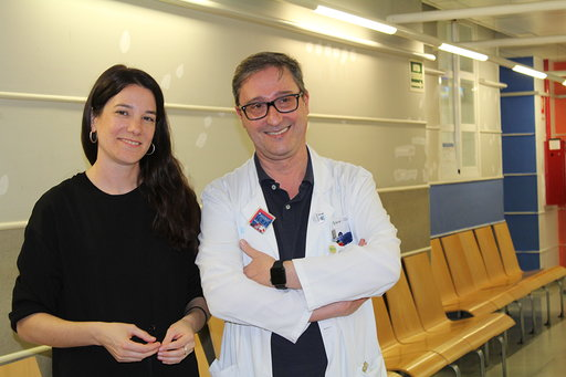 Lara Costafreda en el Hospital Arnau de Vilanova