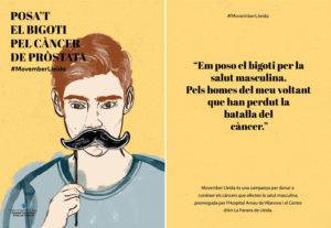 campaña de movember de Lara Costafreda. Pinturas Isaval