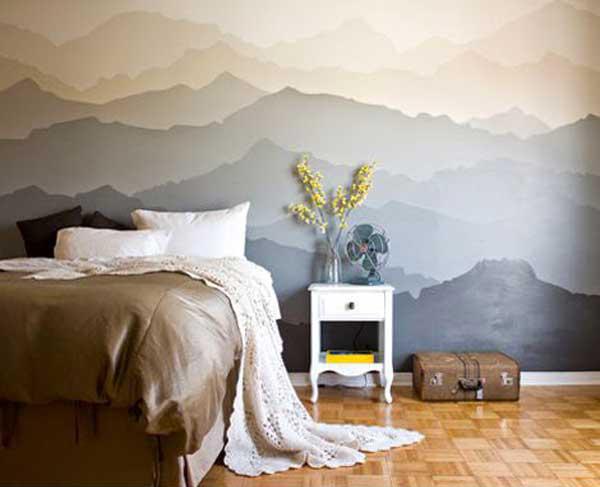 Pintura mural horizonte en la pared isaval - Pintar mural en pared ...