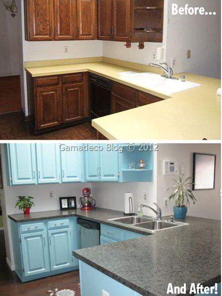 Diy pintar los muebles de la cocina para renovarla isaval - Renovar muebles de cocina ...